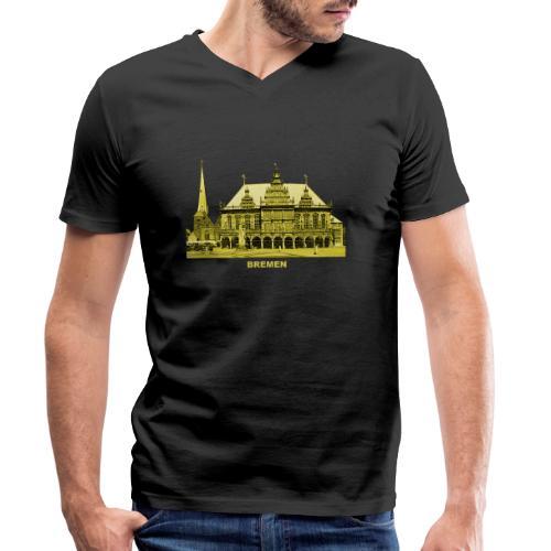 Bremen Rathaus Roland Hansestadt Deutschland - Männer Bio-T-Shirt mit V-Ausschnitt von Stanley & Stella