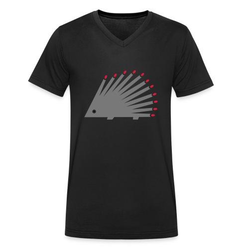 Hedgehog - Men's Organic V-Neck T-Shirt by Stanley & Stella