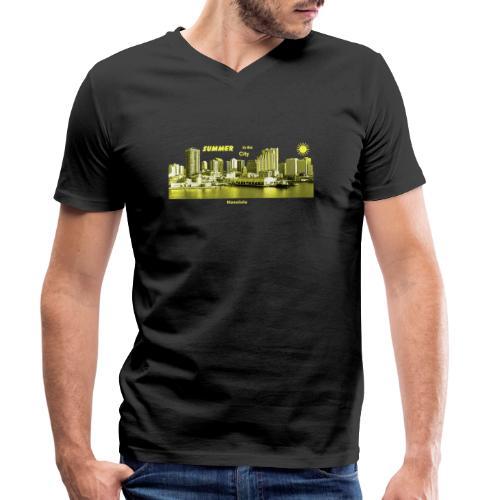 Honolulu Hawaii Summer City - Männer Bio-T-Shirt mit V-Ausschnitt von Stanley & Stella