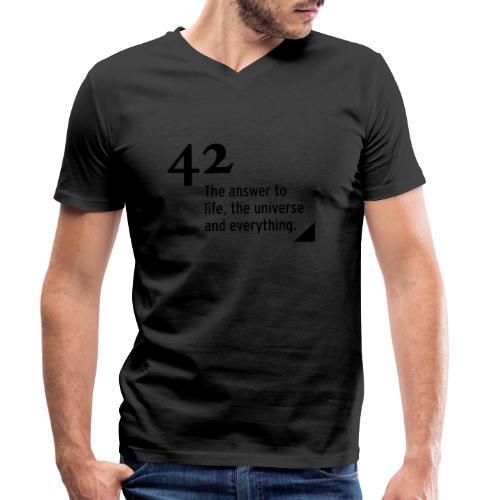 42 - the answer - Männer Bio-T-Shirt mit V-Ausschnitt von Stanley & Stella
