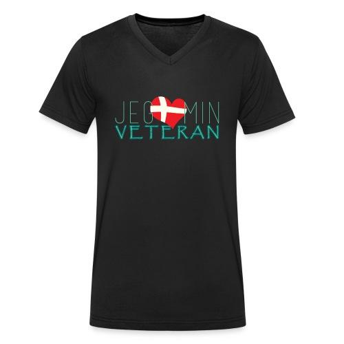 Jeg Elsker Min Veteran - Økologisk Stanley & Stella T-shirt med V-udskæring til herrer