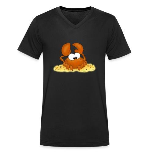 Strandkrabbe - Männer Bio-T-Shirt mit V-Ausschnitt von Stanley & Stella