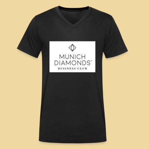 MDBC Logo weiss - Männer Bio-T-Shirt mit V-Ausschnitt von Stanley & Stella