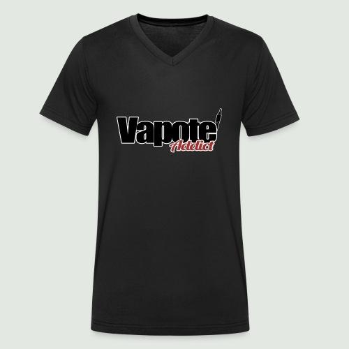 vapote addict - T-shirt bio col V Stanley & Stella Homme