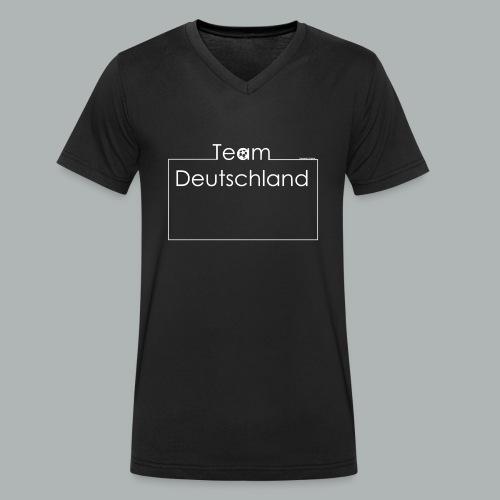 Baby Body Team Deutschland I Frameshirts - Männer Bio-T-Shirt mit V-Ausschnitt von Stanley & Stella