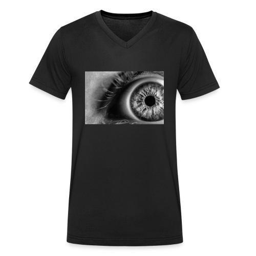 FP-76 Occhio - T-shirt ecologica da uomo con scollo a V di Stanley & Stella