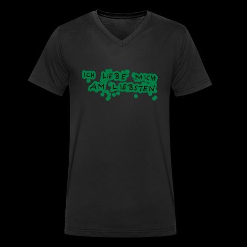 Ich liebe mich am liebsten - Männer Bio-T-Shirt mit V-Ausschnitt von Stanley & Stella
