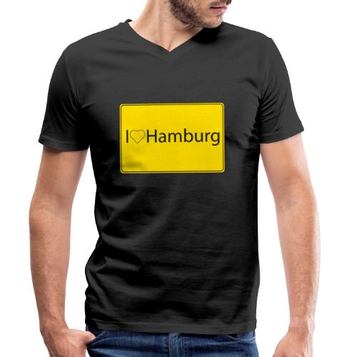 I love hamburg - Männer Bio-T-Shirt mit V-Ausschnitt von Stanley & Stella