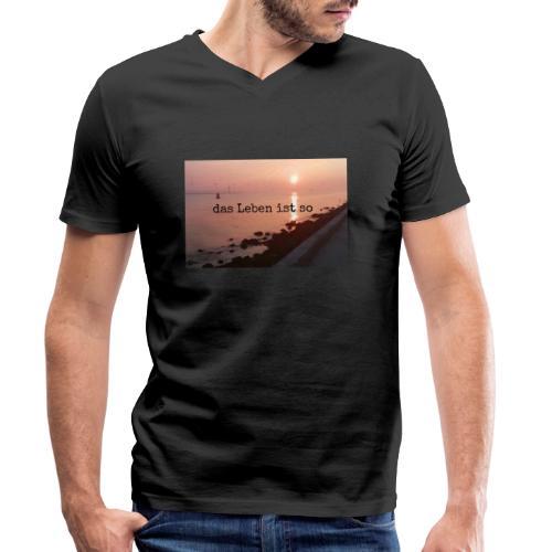 Sunset dLis - Männer Bio-T-Shirt mit V-Ausschnitt von Stanley & Stella