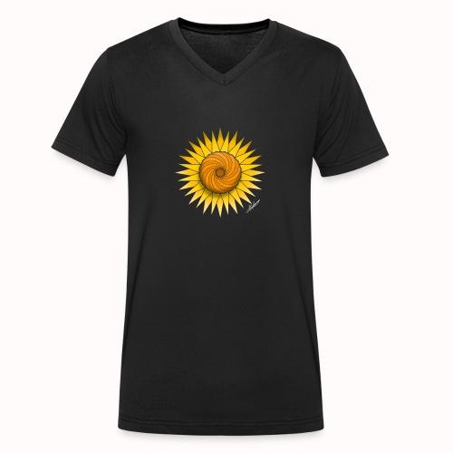 Sunflower - Men's Organic V-Neck T-Shirt by Stanley & Stella