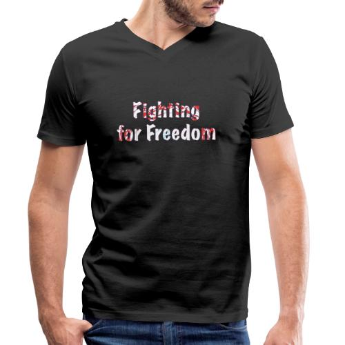 Fighting for Freedom - Men's Organic V-Neck T-Shirt by Stanley & Stella