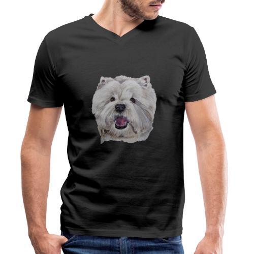 westhighland White terrier - Økologisk Stanley & Stella T-shirt med V-udskæring til herrer