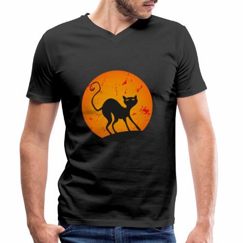 LA LUNA E IL GATTO 3 - THE CAT AND MOON 3 - T-shirt ecologica da uomo con scollo a V di Stanley & Stella
