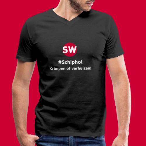 #Schiphol - krimpen of verhuizen! - Mannen bio T-shirt met V-hals van Stanley & Stella