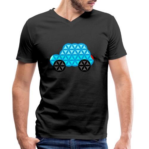 The Car Of Life - 01, Sacred Shapes, L/Blue. - Men's Organic V-Neck T-Shirt by Stanley & Stella