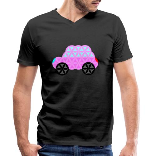 The Car Of Life - 01, Sacred Shapes, Pink. - Men's Organic V-Neck T-Shirt by Stanley & Stella