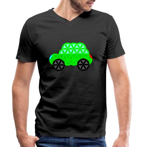The Car Of Life - M01, Sacred Shapes, Green/R01. - Men's Organic V-Neck T-Shirt by Stanley & Stella