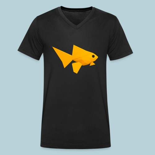 RATWORKS Fish-Smish - Men's Organic V-Neck T-Shirt by Stanley & Stella
