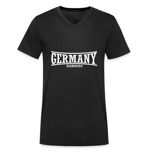 germany-hamburg-weiß - Männer Bio-T-Shirt mit V-Ausschnitt von Stanley & Stella