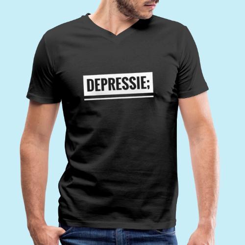 Depressie; - T-shirt bio col V Stanley & Stella Homme