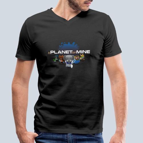 logo planetofmine dark HD - T-shirt bio col V Stanley & Stella Homme