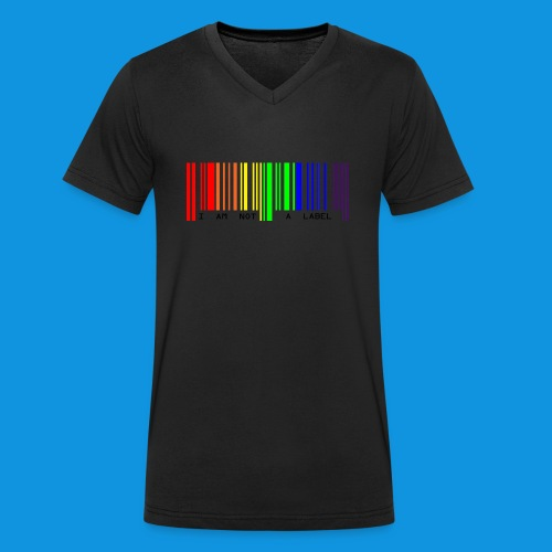 Not a Label - Men's Organic V-Neck T-Shirt by Stanley & Stella