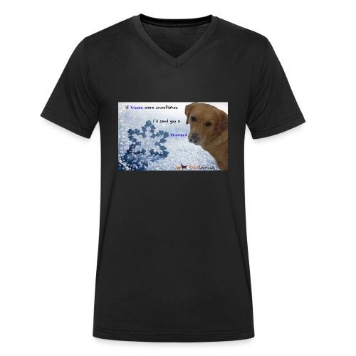 Golden Retriever tra i fiocchi di neve - T-shirt ecologica da uomo con scollo a V di Stanley & Stella