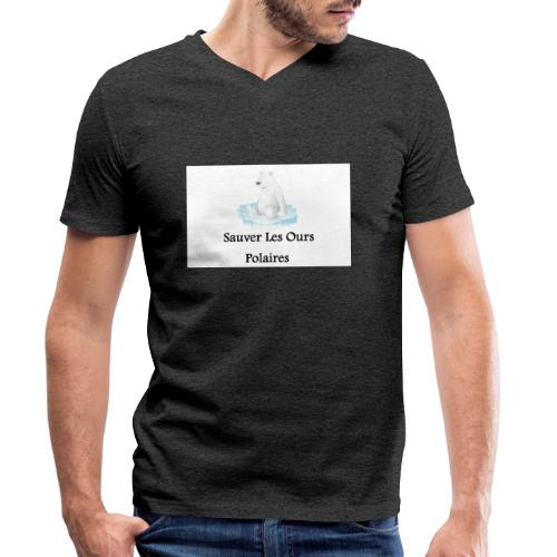 Sauver Les Ours Polaires - T-shirt bio col V Stanley & Stella Homme