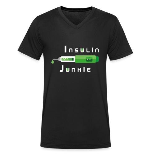 Insulin-Shirt-green - Männer Bio-T-Shirt mit V-Ausschnitt von Stanley & Stella