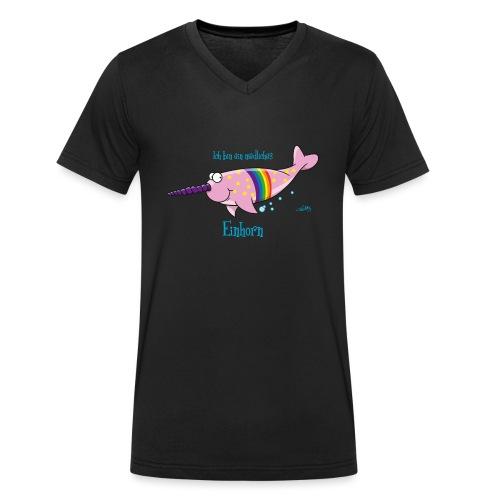 Narwal Einhorn - Männer Bio-T-Shirt mit V-Ausschnitt von Stanley & Stella