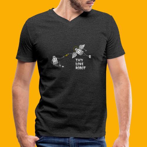 Dat Robot: Gods gift - Mannen bio T-shirt met V-hals van Stanley & Stella