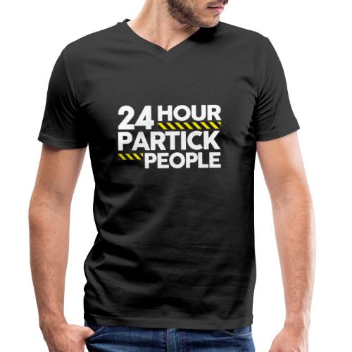24 Hour Partick People - Men's Organic V-Neck T-Shirt by Stanley & Stella