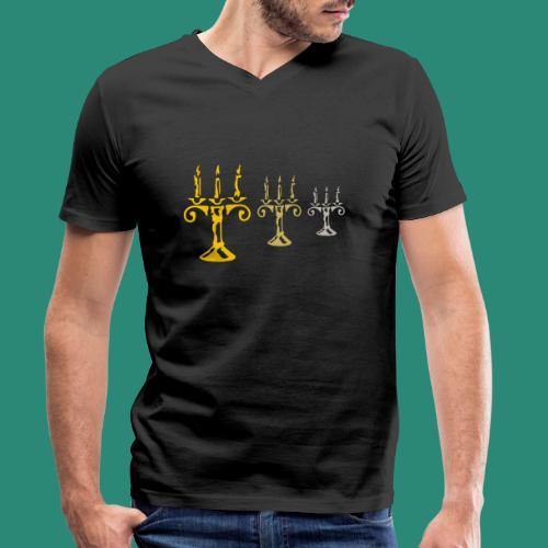 edles Kerzenlicht - Männer Bio-T-Shirt mit V-Ausschnitt von Stanley & Stella