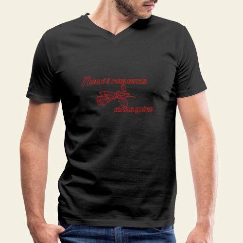 rose - Økologisk Stanley & Stella T-shirt med V-udskæring til herrer