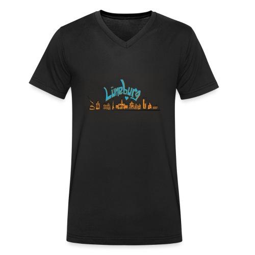 Lüneburg Design by deisoldphotodesign - Männer Bio-T-Shirt mit V-Ausschnitt von Stanley & Stella