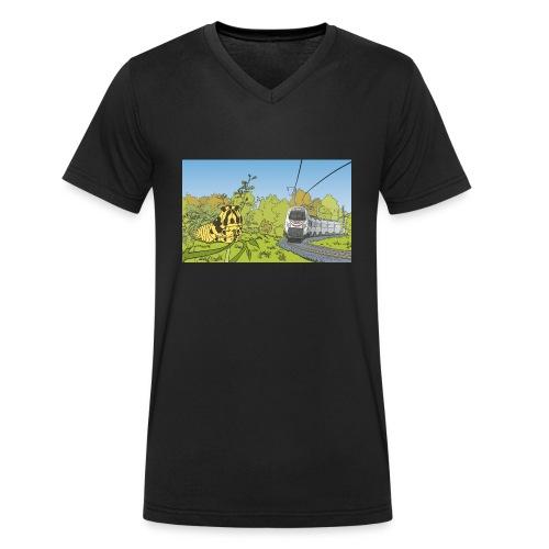 Raupe und Zug - Männer Bio-T-Shirt mit V-Ausschnitt von Stanley & Stella