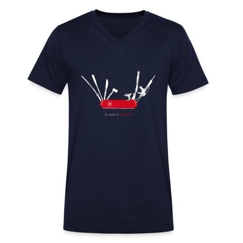 In case of zombies - Männer Bio-T-Shirt mit V-Ausschnitt von Stanley & Stella