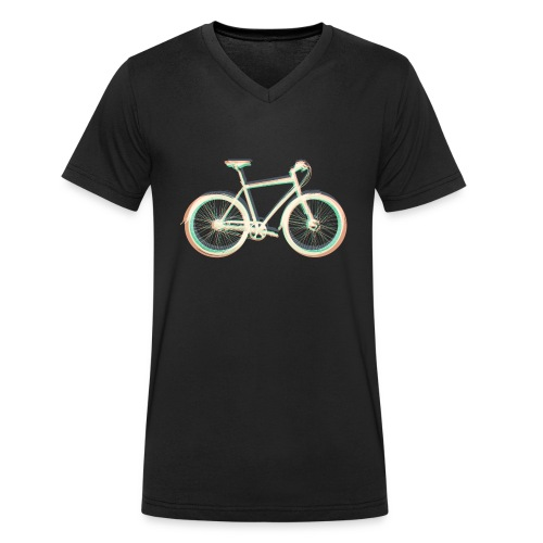 Fahrrad Bike Outdoor Fun Radsport Radtour Freiheit - Men's Organic V-Neck T-Shirt by Stanley & Stella
