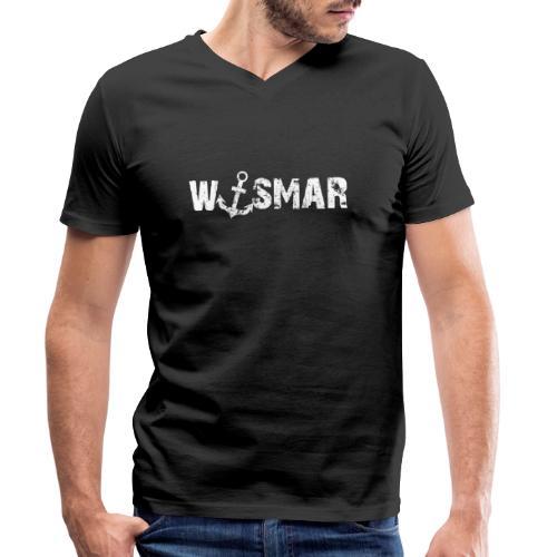 Wismar mit Anker - Männer Bio-T-Shirt mit V-Ausschnitt von Stanley & Stella