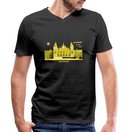 Summer Amsterdam City Bahnhof Niederlande Sommer - Männer Bio-T-Shirt mit V-Ausschnitt von Stanley & Stella