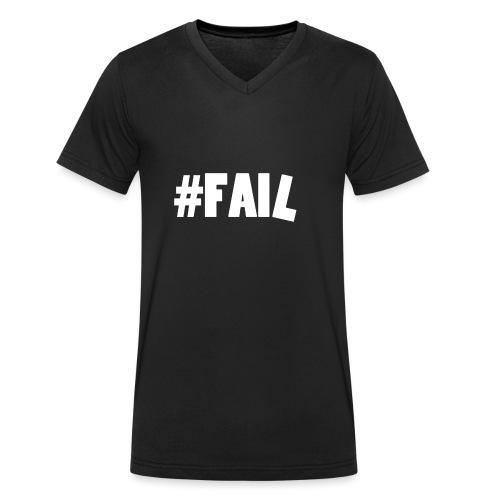 FAIL / White - T-shirt bio col V Stanley & Stella Homme