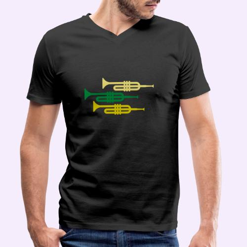 Jazz - Männer Bio-T-Shirt mit V-Ausschnitt von Stanley & Stella