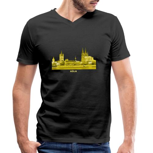 Köln Dom Rhein Nordrhein-Westfalen Deutschland - Männer Bio-T-Shirt mit V-Ausschnitt von Stanley & Stella