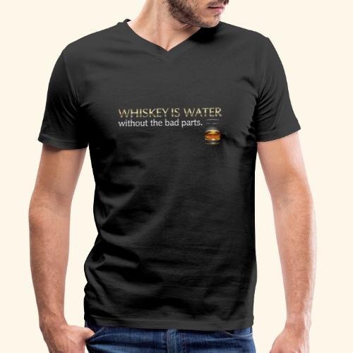 Whiskey T Shirt Whiskey is water - Männer Bio-T-Shirt mit V-Ausschnitt von Stanley & Stella