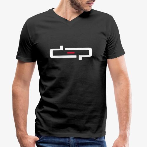 deplogo1neg red - Økologisk T-skjorte med V-hals for menn fra Stanley & Stella