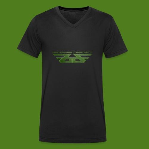 ZoGGaZ Fanshirt Logo groß - Männer Bio-T-Shirt mit V-Ausschnitt von Stanley & Stella