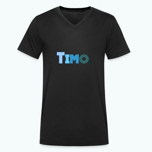Timo in blauwe tinten - Mannen bio T-shirt met V-hals van Stanley & Stella