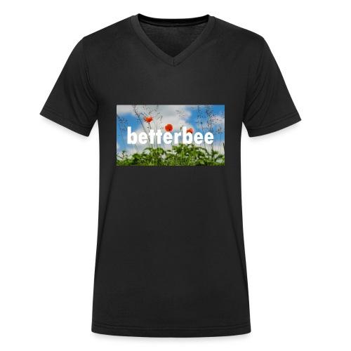 betterbee Banner T-Shirt - Männer Bio-T-Shirt mit V-Ausschnitt von Stanley & Stella
