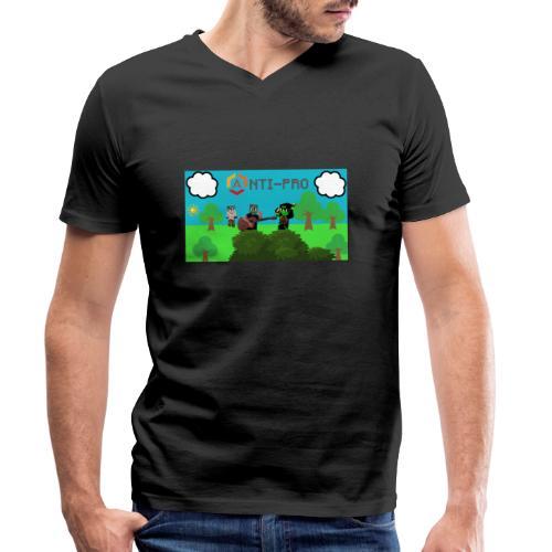 Maglietta Immagine Mario Anti-Pro - T-shirt ecologica da uomo con scollo a V di Stanley & Stella