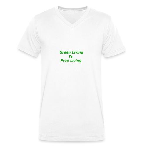 Green Living - Økologisk Stanley & Stella T-shirt med V-udskæring til herrer
